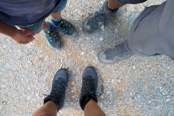 wandelschoenen passen