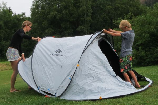 review decathlon tent