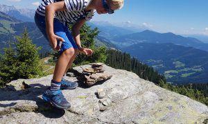 Familiewandeling naar de top in Muhlbach