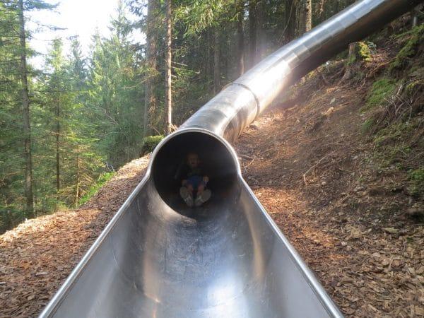 glijbanen wandeling in maria alm met kinderen wandelen in Salzburgerland