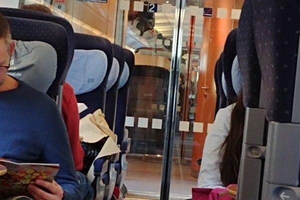 Treincoupe in de trein naar Oostenrijk