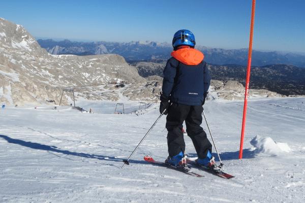 Onze eerste skidagen - dachstein zon ski