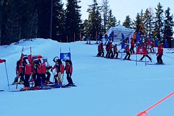 skiwedstrijden voor kinderen