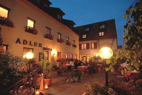 overnachten in Hotel Adler in Ulm, hotel onderweg naar Italië