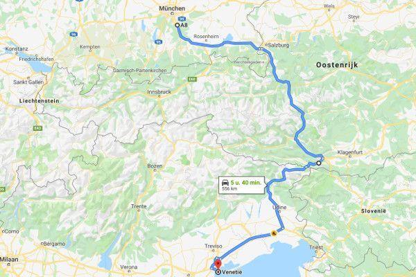 Tip voor de beste route naar Italië - adriatische kust rij via Salzburg
