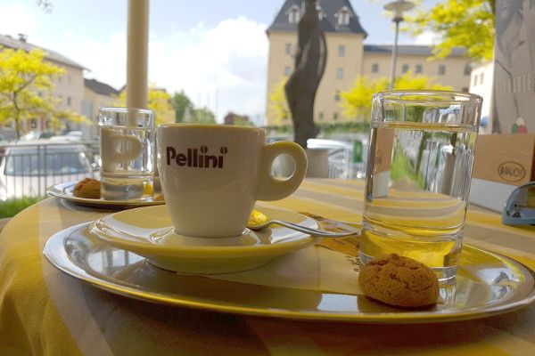 Koffie onderweg naar Italië