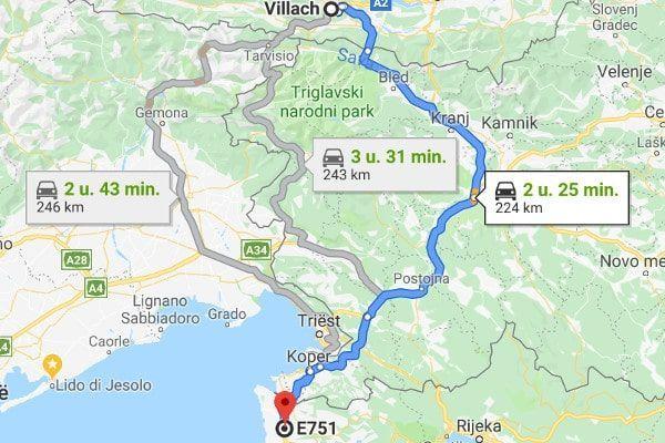 File bij de Karawankentunnel alternatieve route naar Kroatie door Italië