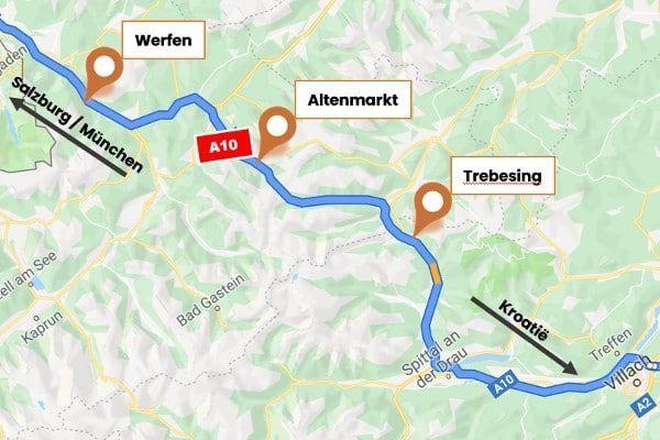 Hotel langs de A10 in Oostenrijk