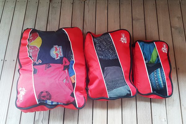 packing cubes rood in drie maten
