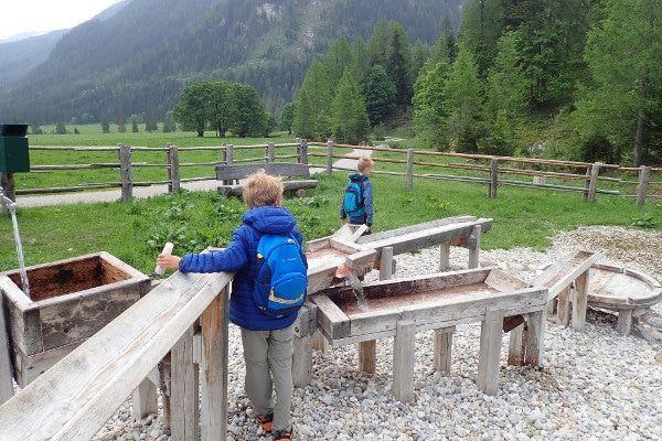 Waterspeeltuin bij de Gnadenalm in Obertauern