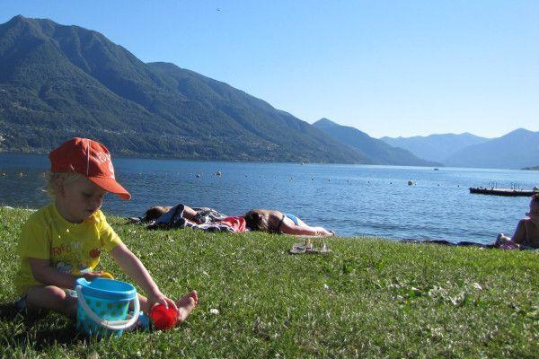 Prachtig uitzicht bij het Lago Maggiore