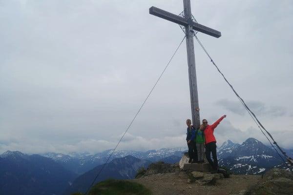 Gipfelkreuz Flachau, zomer