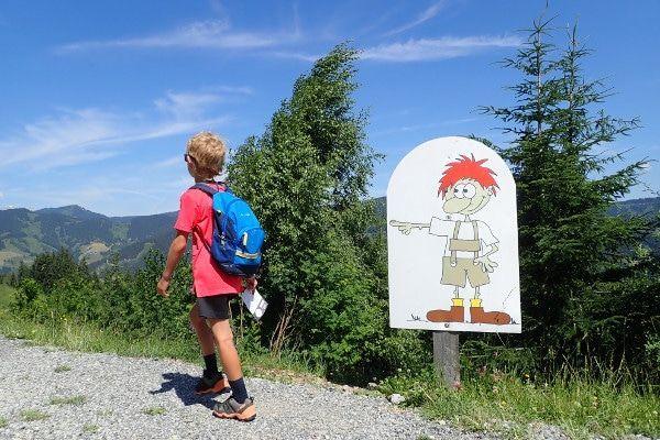 Floris wandelroute voor kinderen in Flachau