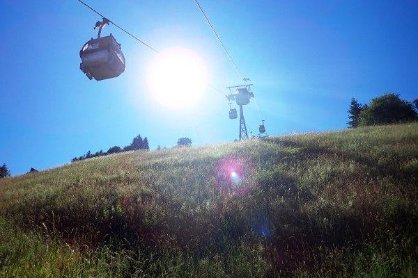 Skilift in de zomer - alpendorf - geisterberg