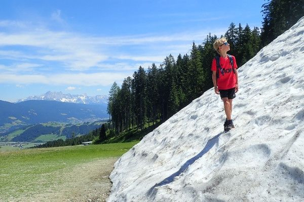 Er ligt nog sneeuw in Flachau