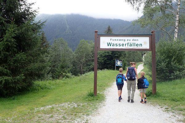 Route naar Krimmler watervallen