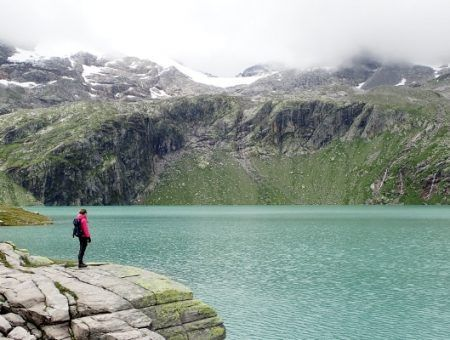 Bezoek aan de Weißsee gletsjer in de zomer