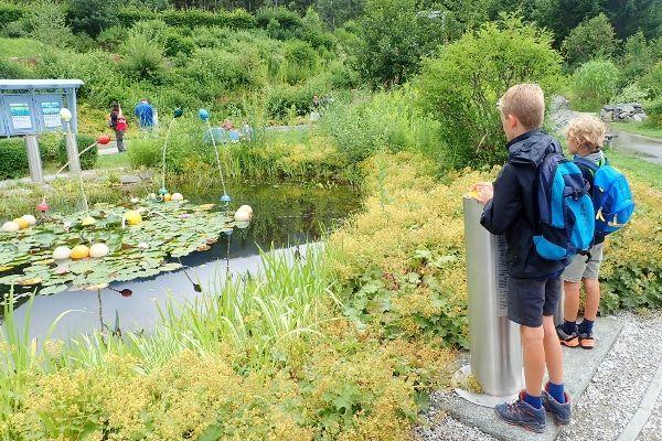 Wasserwelten in Krimml in de zomer