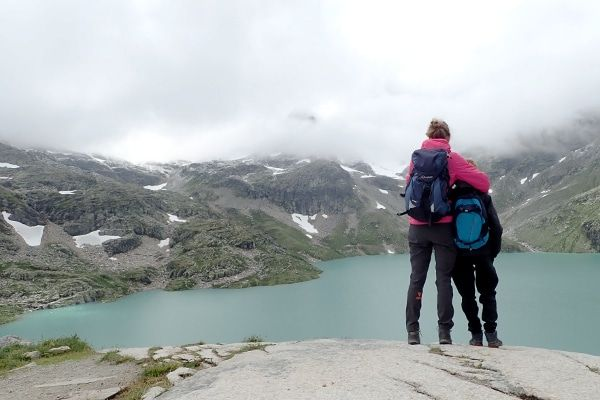 wisselvallig weer bij Weißsee gletsjer