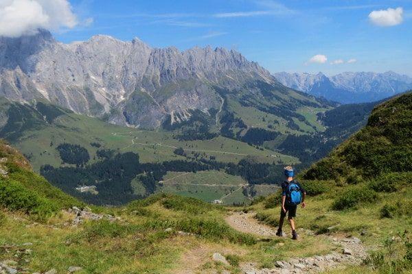 Wandelen met een prachtig uitzicht in Hochkönig