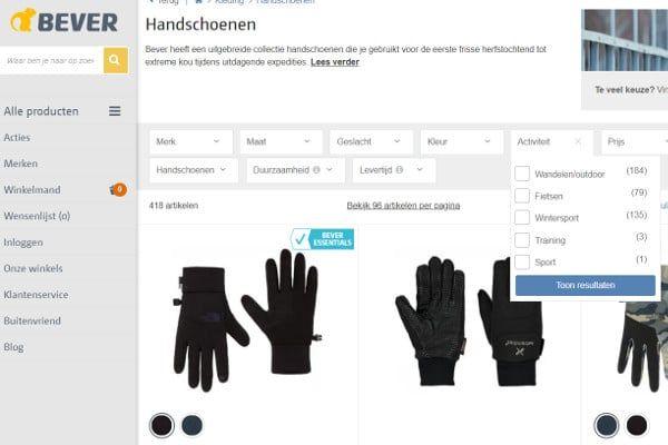 Handschoenen kopen bij Bever