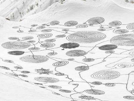 Hele bijzondere kunst in de sneeuw: Snow Drawings