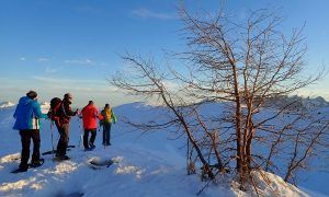 Bijzonder: sneeuwschoenwandelen bij zonsondergang in Oost-Tirol