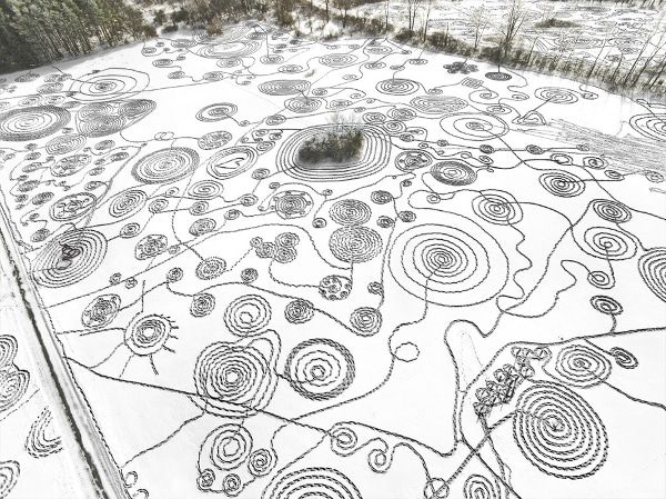 Snow drawing New York