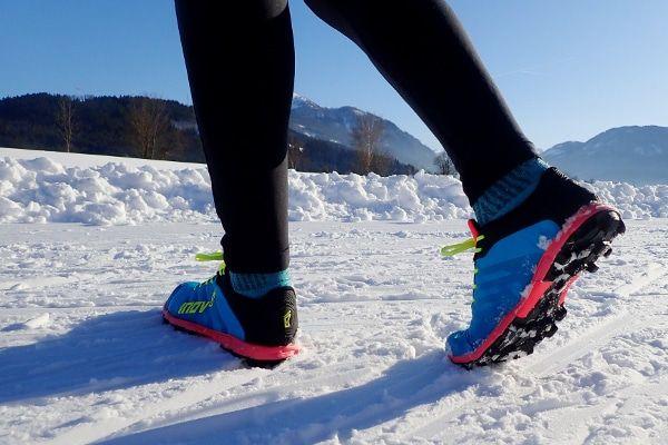 Inov-8 hardloopschoenen voor sneeuw en ijs
