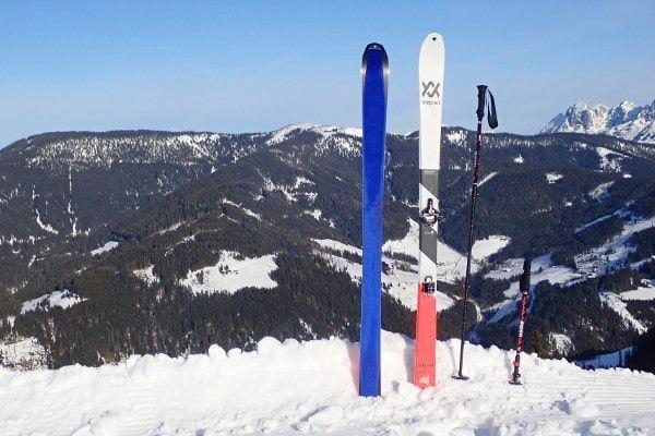 toerskien: ski's vellen, telescopische skistokken