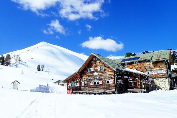 winterwandeling in Obertauern naar de sudwiener hutte