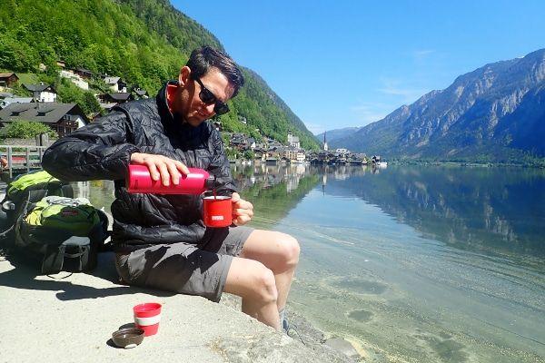 koffie in Hallstatt