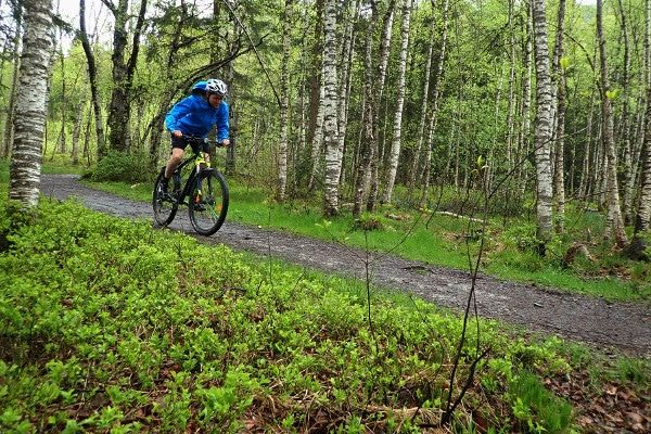 Test tijdens het mountainbiken