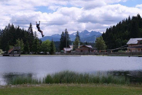 Flying Fox - over meer