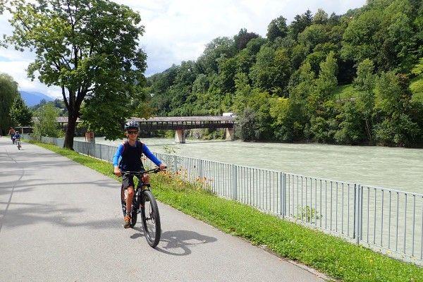 fietsen in Innsbruck met kinderen