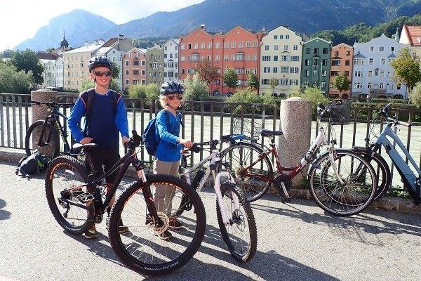 Fietsen door Innsbruck