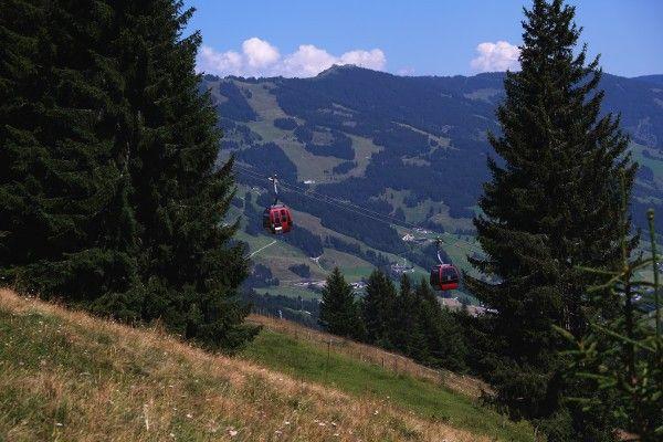 Beide wandelingen beginnen boven aan de Reiterkogelbahn - Saalbach Hinterglemm