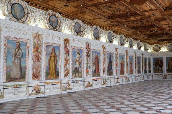 Prachtige zalen in Schloss Ambras