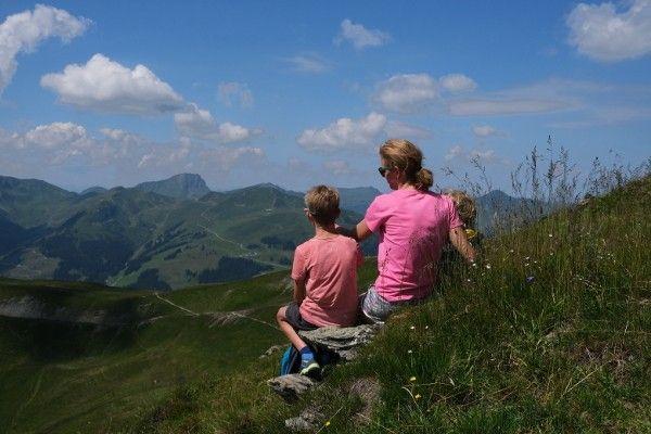 prachtige uitzichten tijdens het wandelen in Saalbach