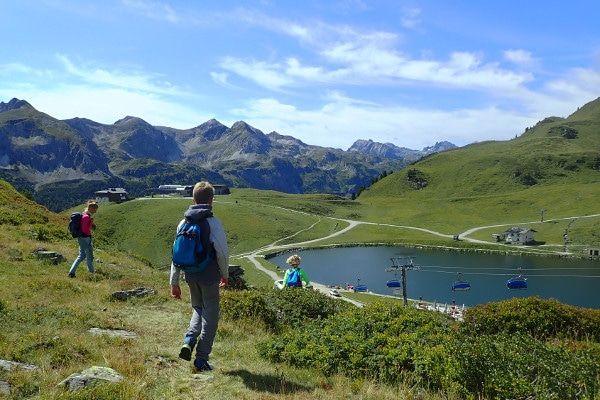 De 'Grünwaldsee' in Obertauern.