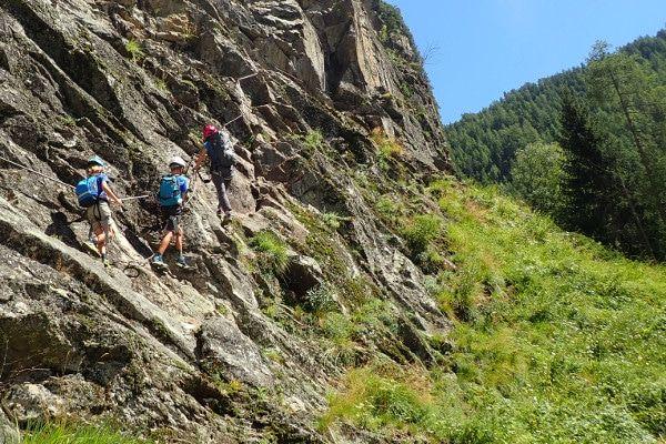 Klettersteig wand