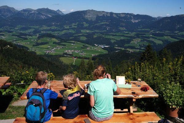 Lunch met uitzicht in Abtenau