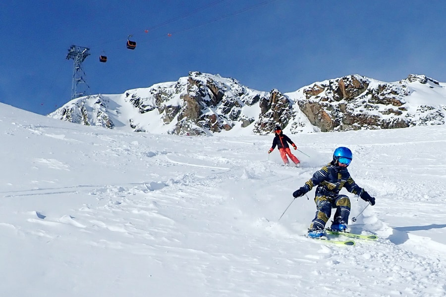 overzicht makkelijke skigebieden met veel blauwe pistes