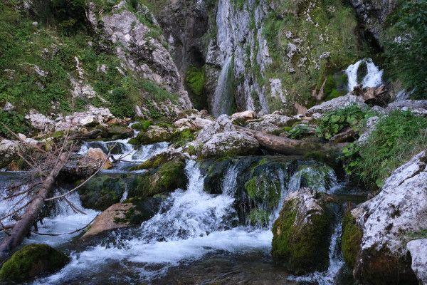 De watervallen van Abtenau.