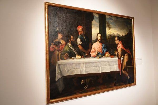 Een van de mooie schilderijen in het Klooster (Stift Stams)