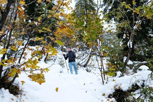 wandelen in sneeuw